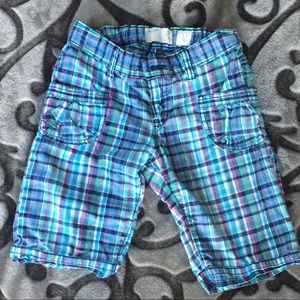 Old Navy girls plaid shorts size 10 adjstble waist